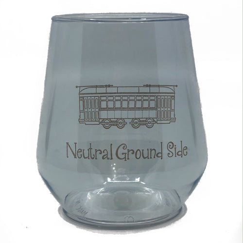Gold Neutral Ground Side Stemless Wine Cup