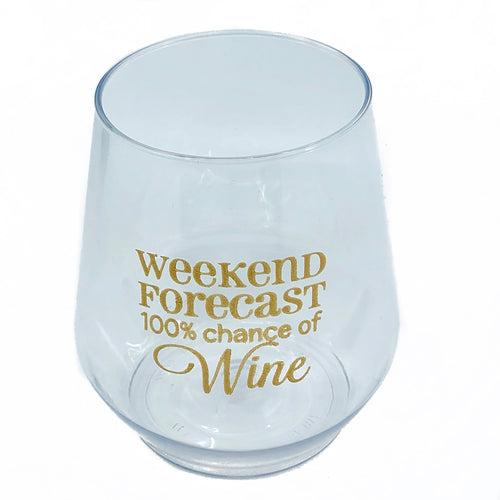 Weekend Forecast Stemless Wine