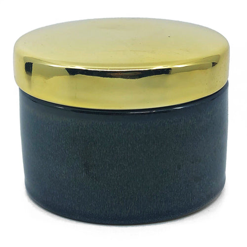 Gold Lid Vanity Jar