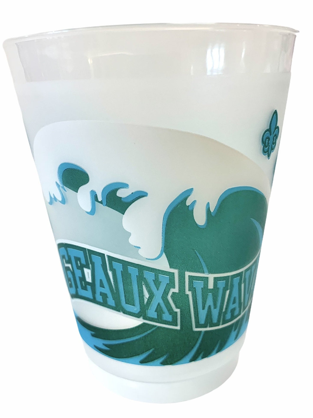 Geaux Wave Frosted Cups - MSP Miss Smarty Pants