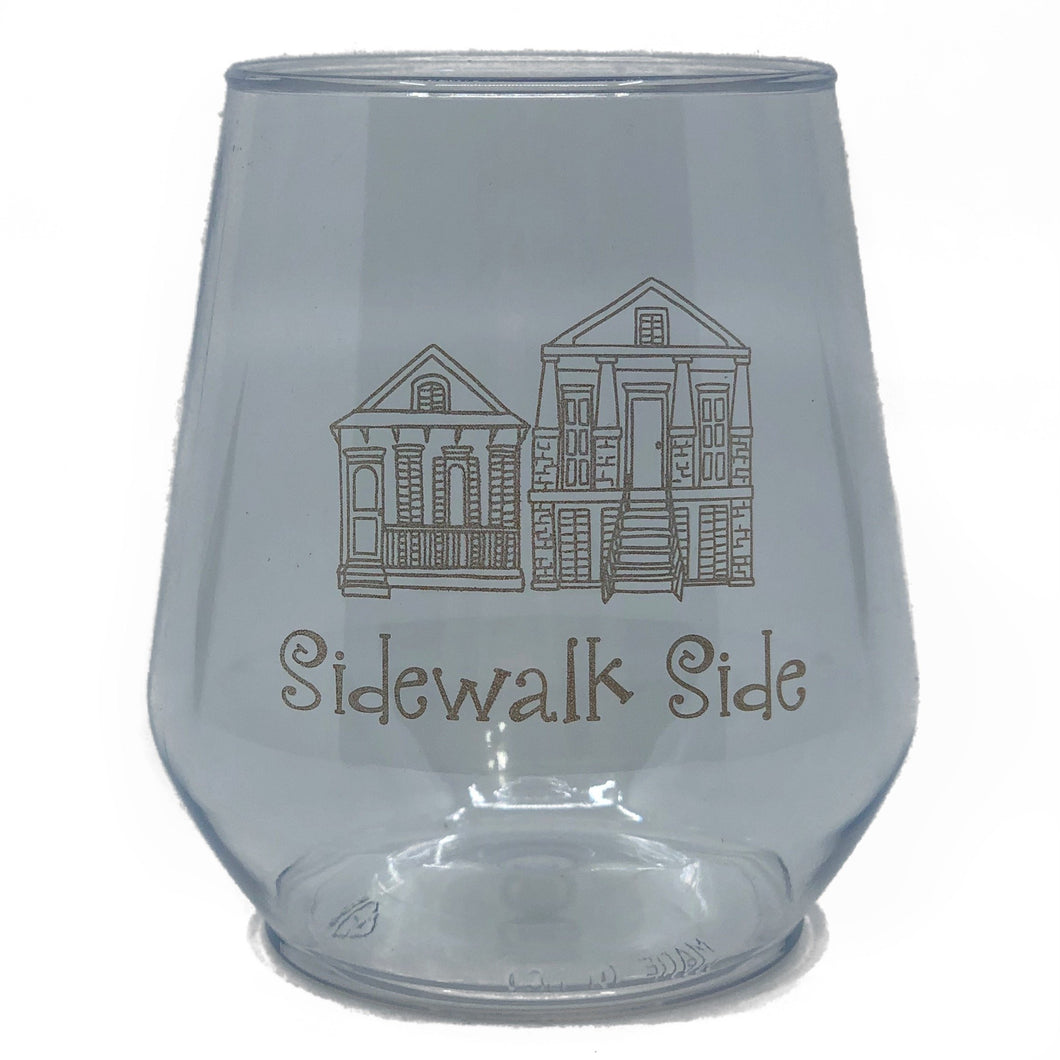 Gold Sidewalk Side Stemless Wine Cup