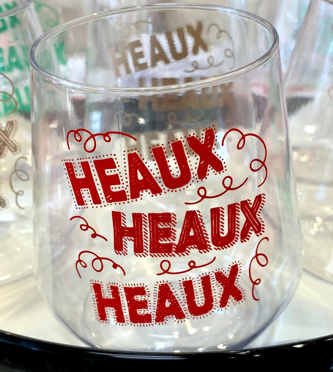 Red Heaux Stemless Wine