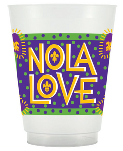 Mardi Gras NOLA Love Frosted Cups