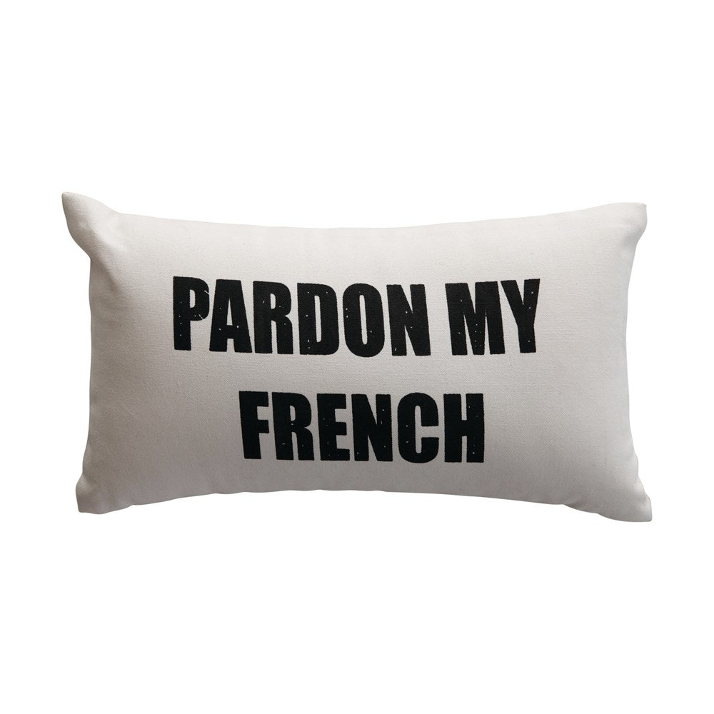 Pardon My French Pillow