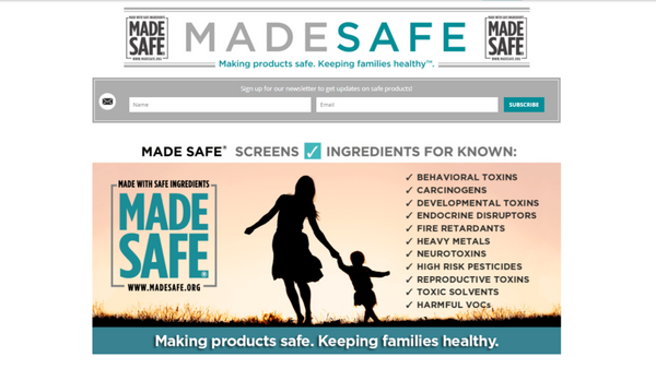 toxin-free living website: made safe