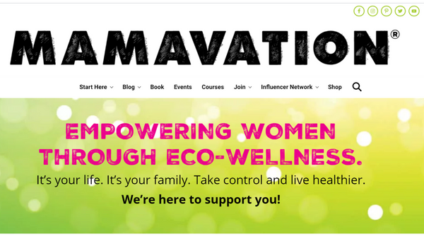 toxin-free living website: mamavation