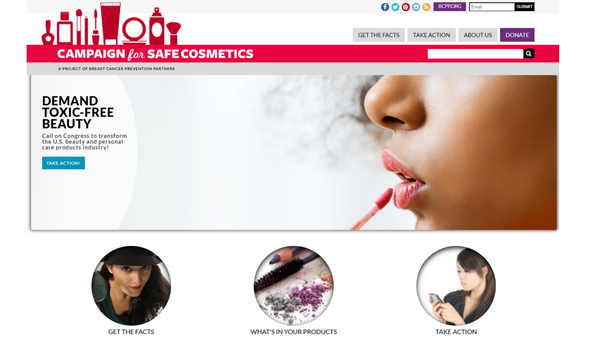 toxin-free living website: safer cosmetics