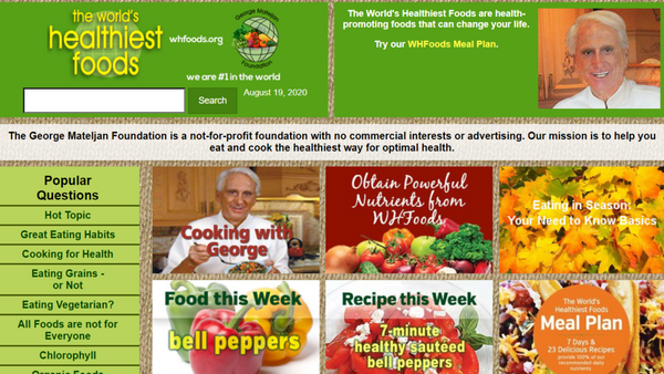 toxin-free living website: world's healthiest foods