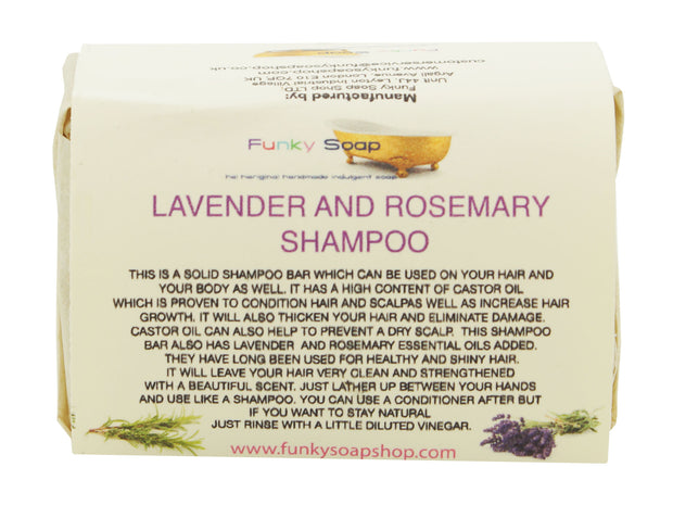 Funky Soap Lavender and Rosemary Shampoo Bar