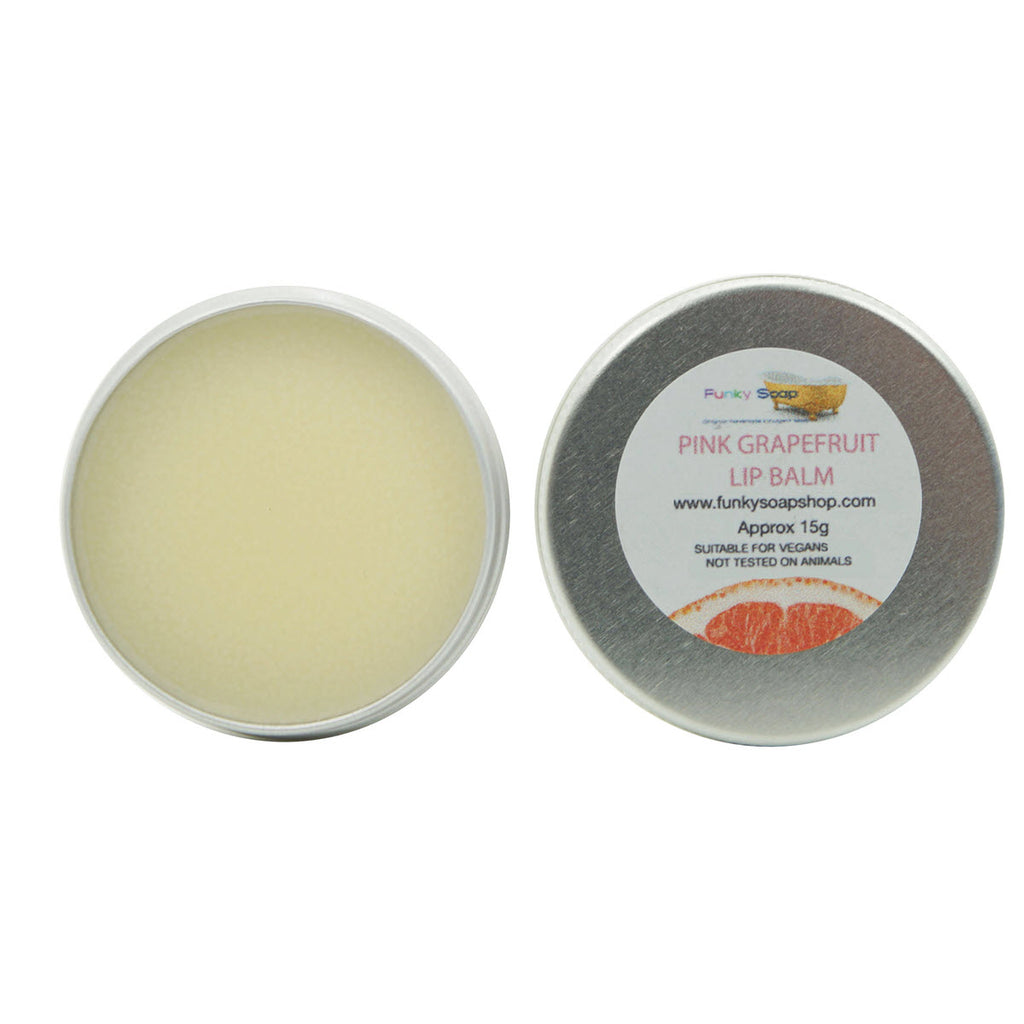 Funky Soap Pink Grapefruit Vegan Lip Balm - Eco and Earth