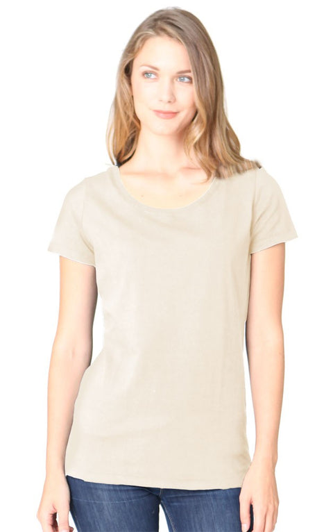 Women's Bamboo & Organic Cotton Scoop Neck Short Sleeve Tee - Eco and Earth