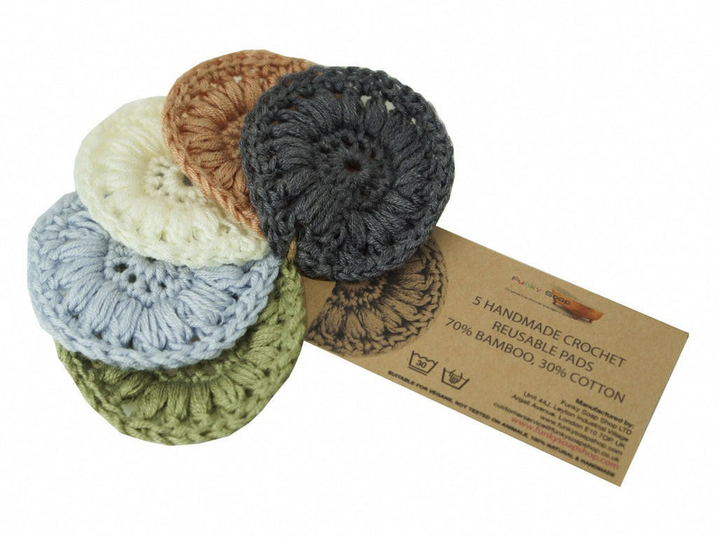 Funky Soap Crochet Face Scrubbies (Set of 5) - Eco and Earth