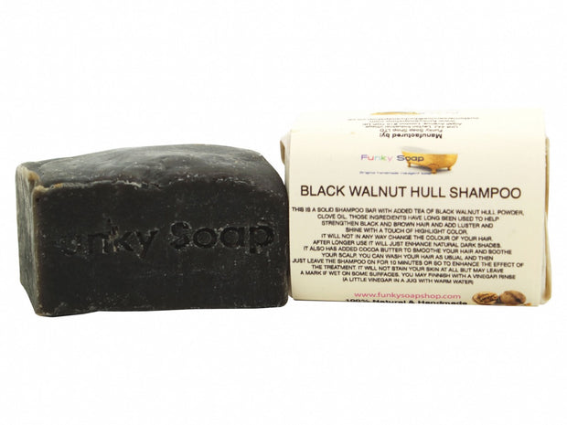 Funky Soap Black Walnut Hull Shampoo Bar - Dark Hair