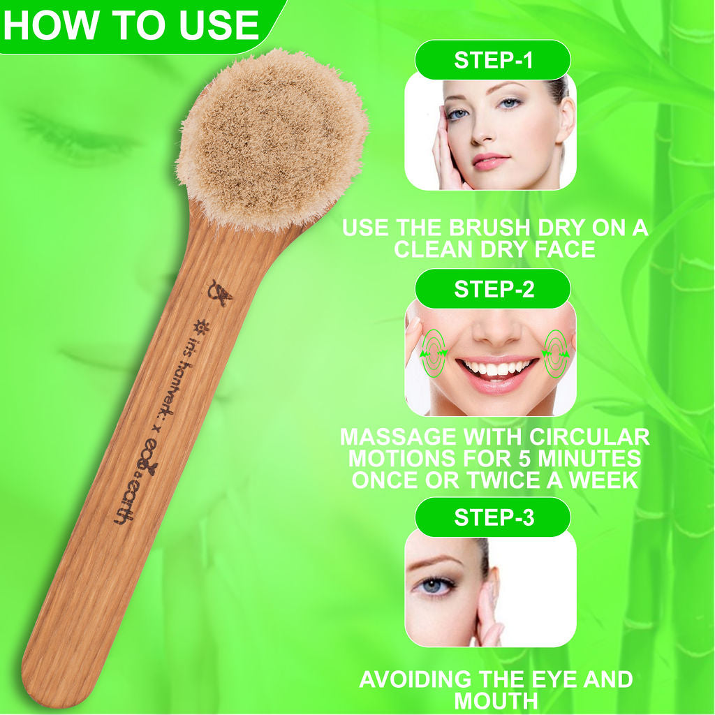 Facial Skincare Dry Brush - Eco and Earth
