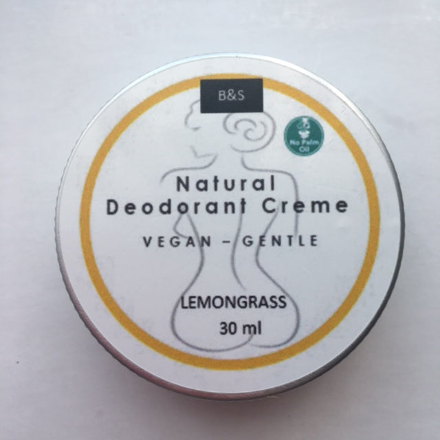 Natural Deodorant Creme Lemongrass - Eco and Earth