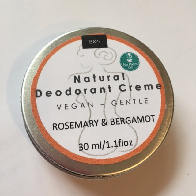 Natural Deodorant Creme Rosemary & Bergamot - Eco and Earth