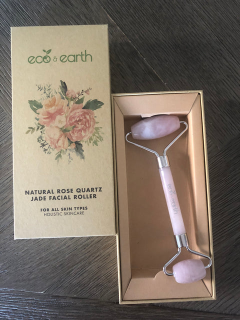 NEW Eco & Earth Rose Quartz Jade Face Roller - Eco and Earth