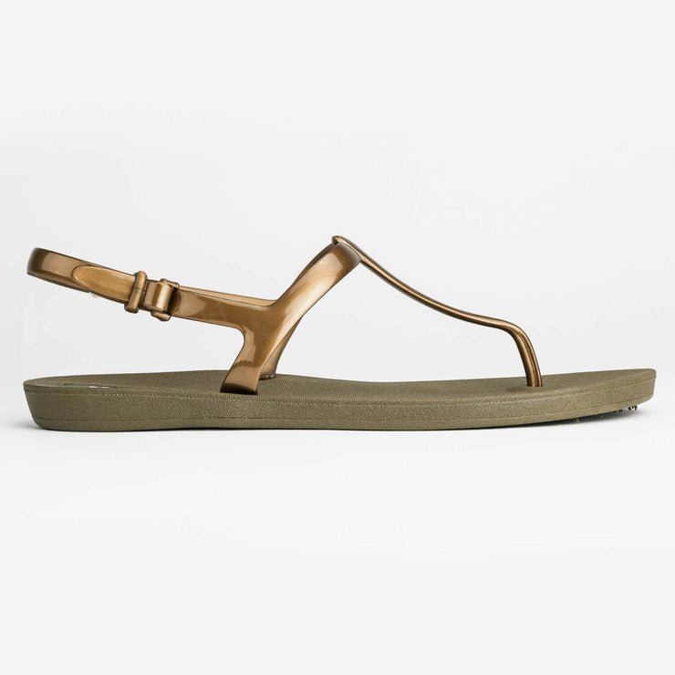 Third Oak Journey Sandal - Moss Gold