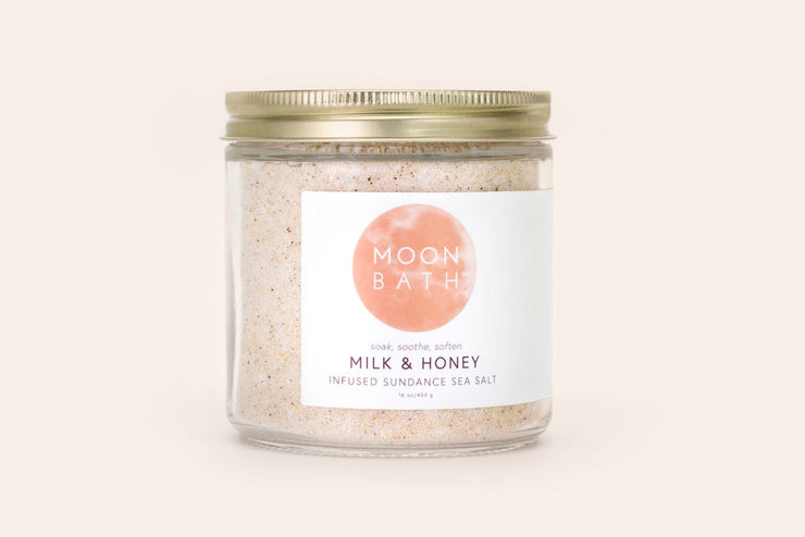 Moonbath Milk & Honey Bath Salts (16 oz.)