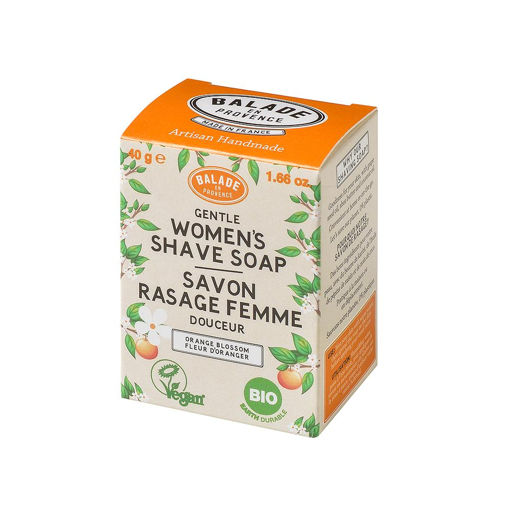 Orange Blossom Shaving Soap for Women - 40g - Eco and Earth
