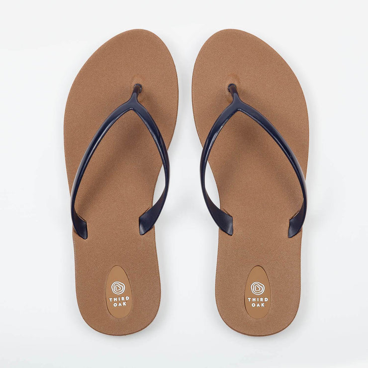 Third Oak Scout Flip Flop - Toffee Navy