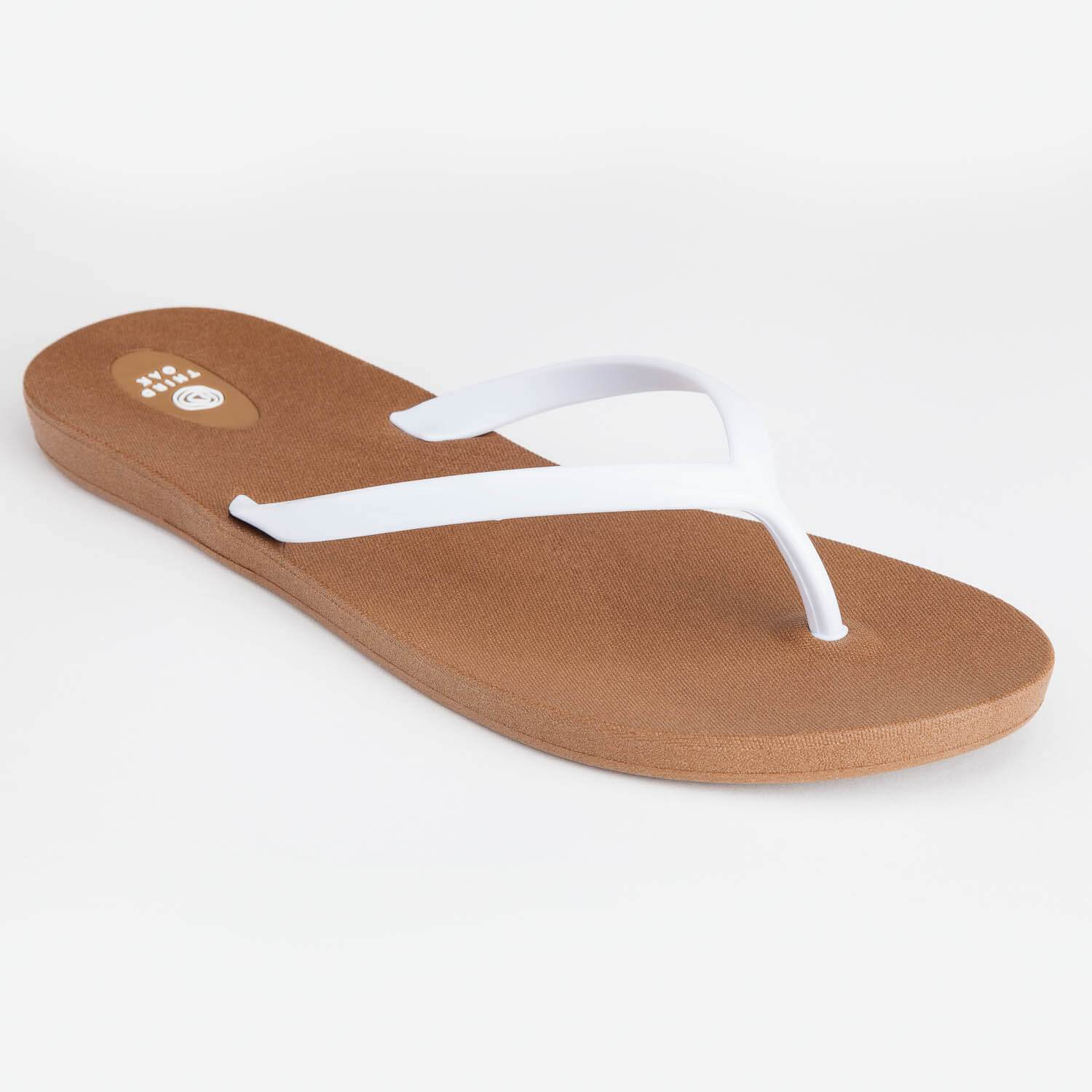 93da417b2222 Third Oak Scout Flip Flop - Toffee White – Eco and Earth