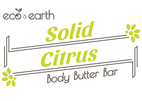 Eco & Earth Citrus Solid Body Butter Bar - Eco and Earth