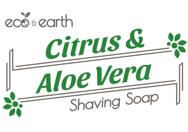Eco & Earth Citrus and Aloe Vera Shaving Soap