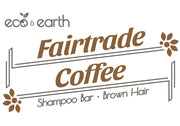 Eco & Earth Fairtrade Coffee Shampoo Bar for Brown Hair
