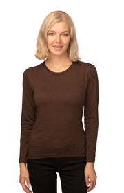 Women's Organic Long Sleeve Crew Tee - Eco and Earth