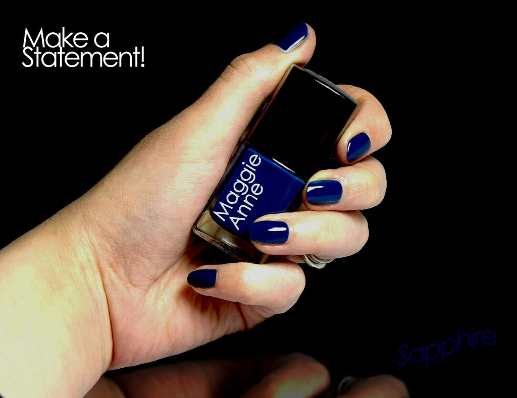 Maggie Anne Nail Polish - Sapphire - Eco and Earth