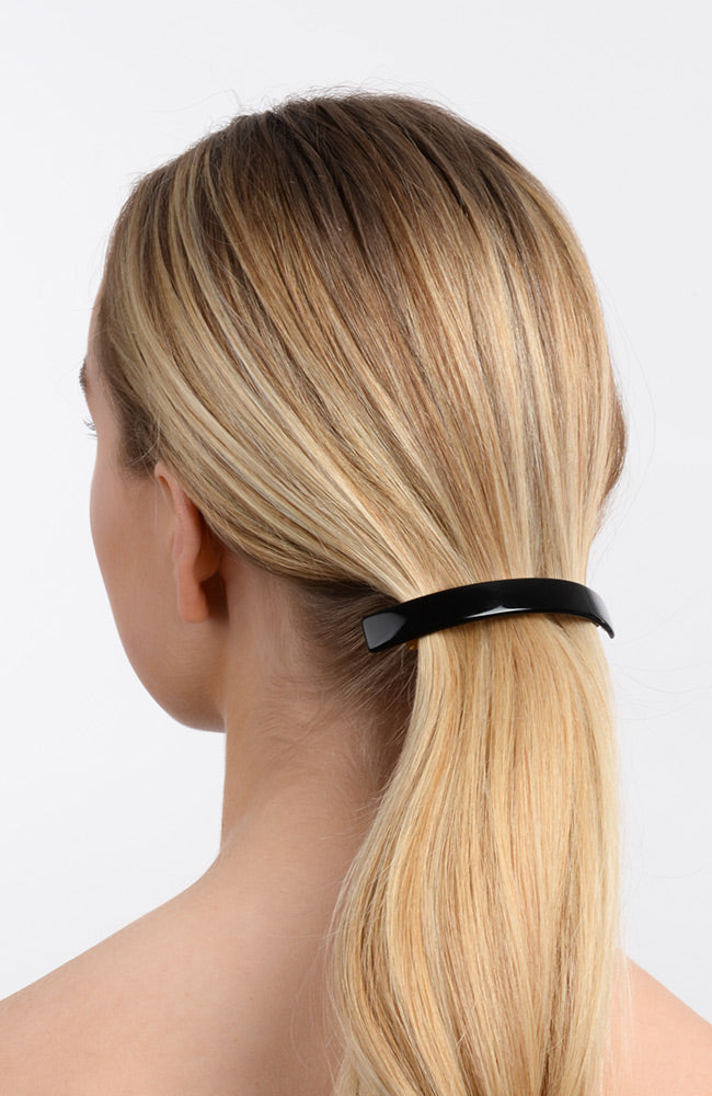 Volume barrette for ponytails and thick hair