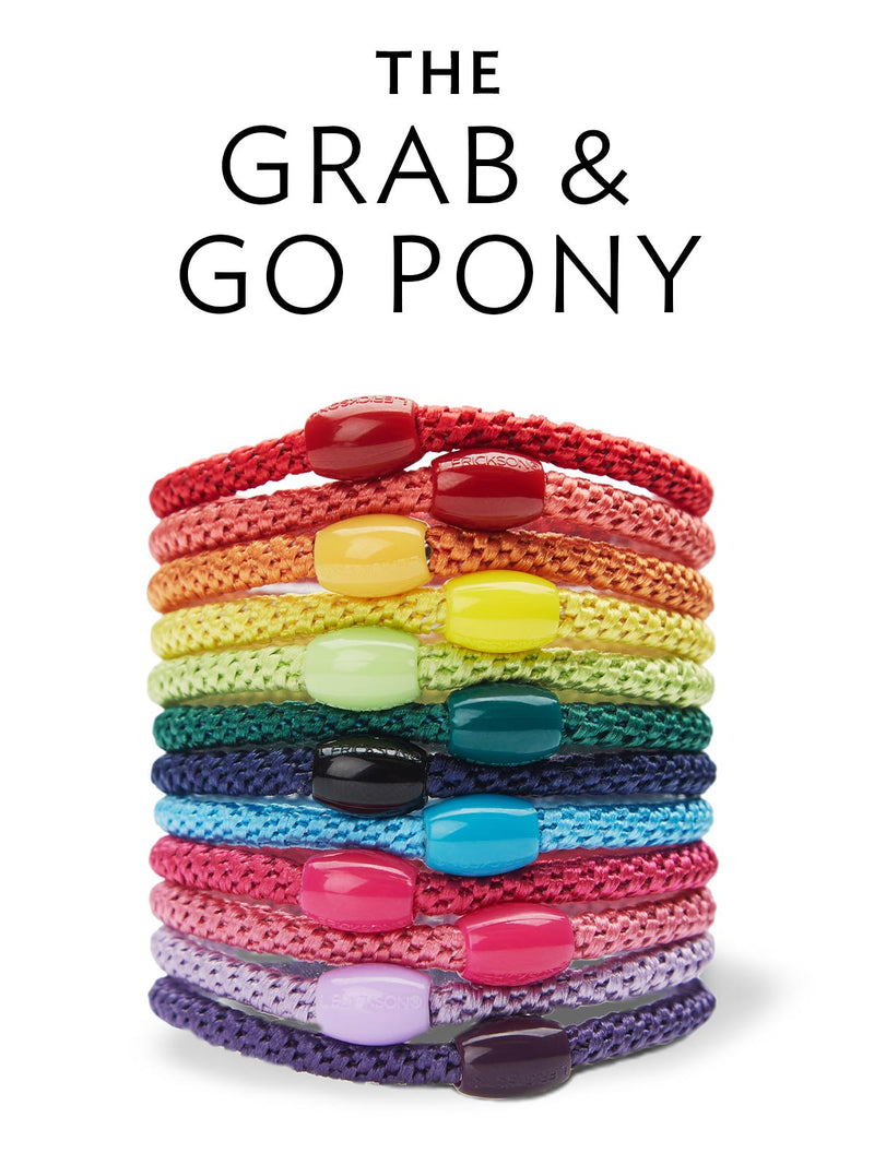 Grab & Go ponytail holders and hair ties by L. Erickson