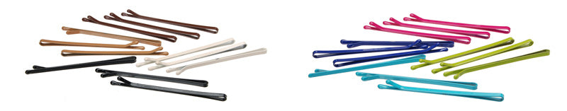 Basic bobby pins in neutral colors and bright colors