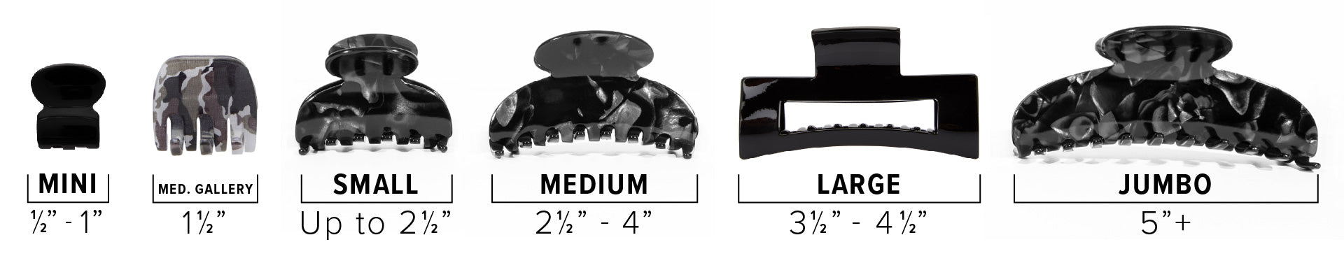 Jaw clip sizing guide