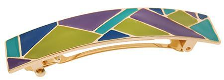 Tesserae Enamel Rectangle Barrette