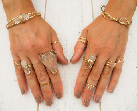 La Femme Boheme's unique gold bohemian rings