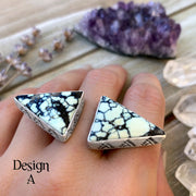 silver double triangle ring