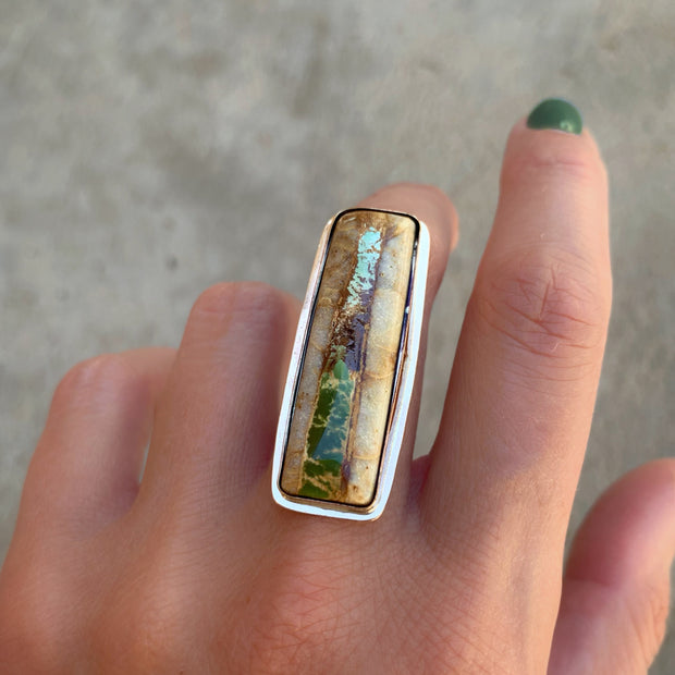 Royston ribbon turquoise ring in 14K gold-fill