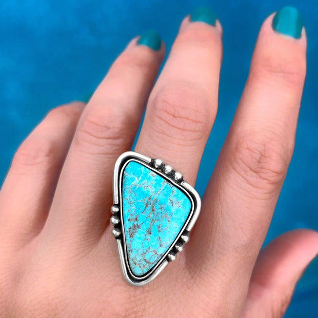 Finished-to-size Morenci turquoise ring