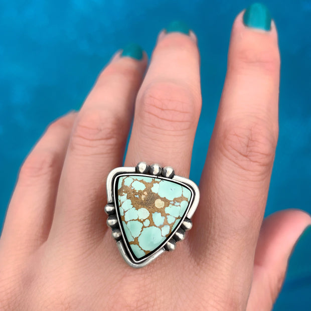 Finished-to-size Treasure Mountain turquoise ring