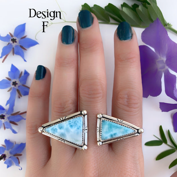 RESERVED FOR DARCY - Deposit on made-to-order double triangle ring