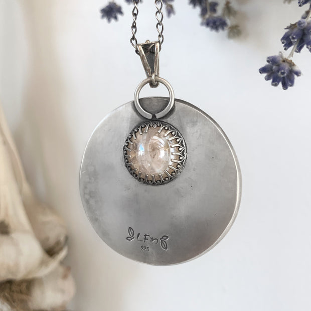 Fortune teller necklace with glass marble crystal ball