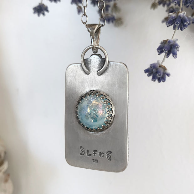 Fortune teller necklace with blue crystal ball