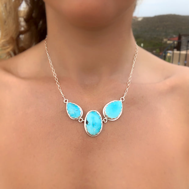 RESERVED FOR KRISTINA - Remaining balance on custom triple turquoise choker