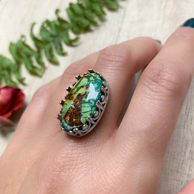 polychrome Hubei turquoise ring