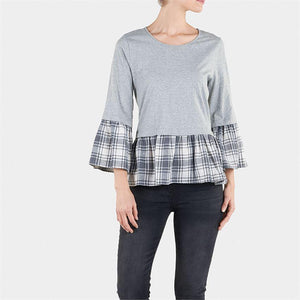 Heather and Gray Plaid