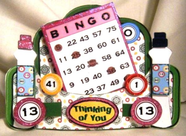 BINGO! 3D Stand Alone Greeting Card