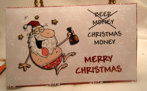 Holiday Money Wallet - Funny Christmas Beer Money Wallet