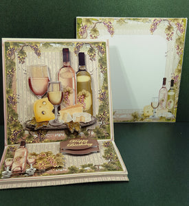 Wine & Cheese Gathering Easel Design Card